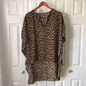 🌟2 for $12🌟Leopard print light poncho / cover up